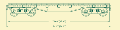 Steel Side Flat Car