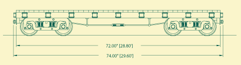 Wood Side Flat Car