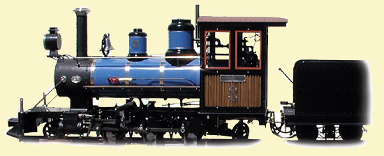 Prairie 2-6-2 Live Steam Locomotive