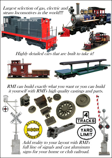 RMI Railworks Miniature Railroad Equipment